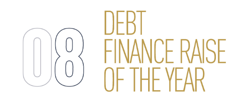 Debt Finance Raise Of The Year