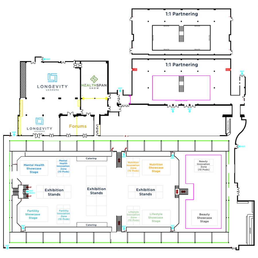 Healthspan Show Floor Plan