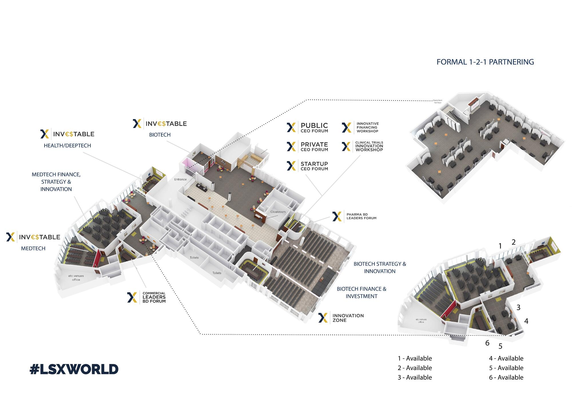 Floor plan for the LSX World Congress formerly known as Biotech and Money Congress