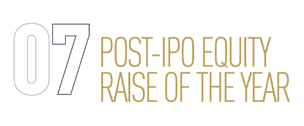 Post-IPO Equity Raise Of The Year